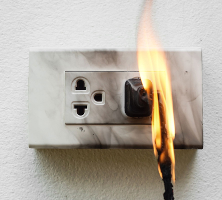 Fire From Electrical Malfunction