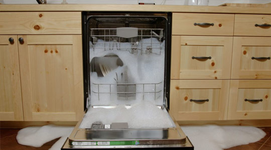 Causes of dishwasher overflow