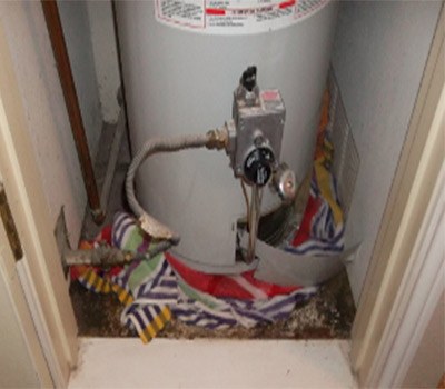 Water Heater Overflow Cleanup