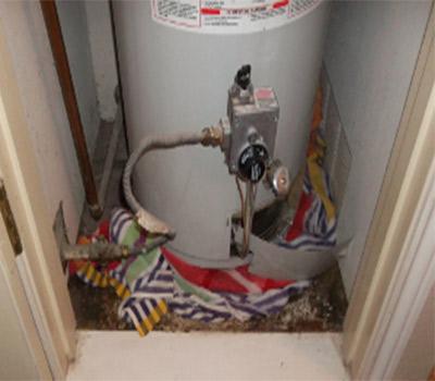 Water Damage from Water Heater Leak